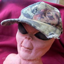 Distressed Beat-Up Bitten Tree Camouflage Strapback Hat Cap Hunting Fishing Camo