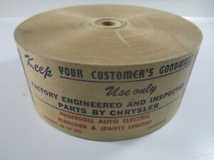 1933-36 Factory Chrysler Parts Brown Wrapping Tape Roll MOPAR CHRYCO NOS