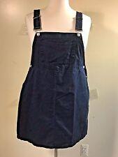 MIYUN Plus Size XXXL Navy Blue Cotton? Bib Overall Skirt Dress