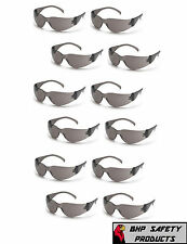 (12 PAIR) PYRAMEX INTRUDER SAFETY GLASSES SMOKE/GRAY LENS SUNGLASSES Z87+ S4120S