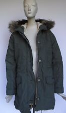 NEW ABERCROMBIE & FITCH Sherpa Military Parka women's jacket size L Large  NEW