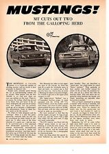 1966 FORD MUSTANG 289/225HP & 200/120HP - ORIGINAL 4-PG ROAD TEST / ARTICLE / AD