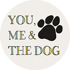 New listing Single Round Absorbent Stone Car Coaster-You Me & The Dog-Carson Home Accents