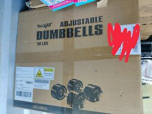 BRAND NEW Yes4All Adjustable Dumbbells - 50 lb Dumbbell Weights (Pair) Ships Now