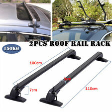 A Pair Car SUV Roof Rail Luggage Rack Baggage Carrier Cross Bearing Force 150KG