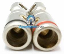 PAIR RT-8546 PLATINUM METAL 4 GAUGE WIRE BATTERY CAPACITOR AMP RING TERMINALS