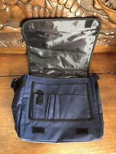Blue Lightweight School Satchel Bag/Laptop Case. Shoulder Straps, MultiPockets