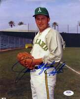 Jim Catfish Hunter PSA DNA Coa Hand Signed 8x10 Photo Autograph