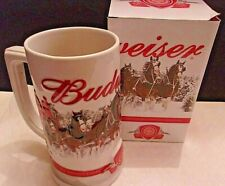 Budweiser 2011 Holiday Stein Annual Christmas Ceramic Beer Mug NEW IN BOX