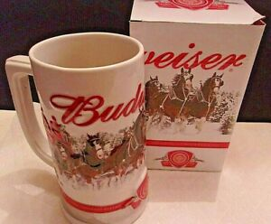 Budweiser 2011 Holiday Stein Annual Christmas Ceramic Beer Mug NEW IN BOX