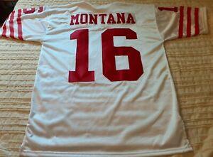 Vintage Joe Montana Stitched Wilson Jersey San Fransisco 49ers Niners Size 44 L