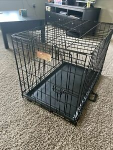 """30"""" Midwest iCrate Medium Pet Dog Metal Cage W/ Single Door Folding Kennel Crate"""