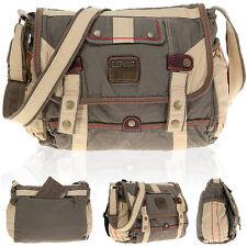 Messenger ELEPHANT KAMPEN Tasche Umhängetasche Handtasche DIN A 4 Bag 3697 OLIV