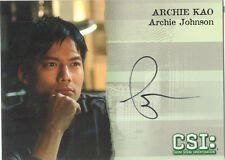 "CSI Series 3 - A8 Archie Kao ""Archie Johnson"" Autograph Card"