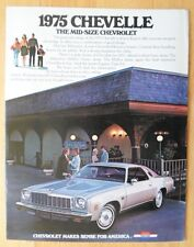 CHEVROLET CHEVELLE 1975 USA Mkt Sales Brochure Catalog - Malibu Classic Type S-3