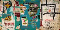 "Jean Michel Basquiat Print on Canvas Abstract art wall decor sale Ishtar 24x48"""
