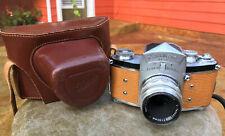Ihagee EXAKTA VX camera & Zeiss Tessar f2.8/50mm lens. Custom lizard emboss skin