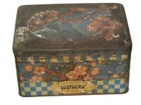 Très rare et Ancienne Boite PLV Tôle Etablissements Lustucru 1900 Cartier-Millon