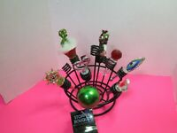 Bottle Stopper Bouquet Oenophilia Wine Display Rack Stand Holder W/8 Stoppers