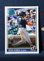 Ozzie Albies RC 2018 Donruss Rated Rookie #36 Atlanta Braves