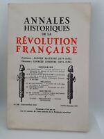 Rivista Annali Storia Della Revolution Francaise Ott - Dic 1967 N° 190