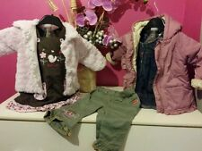 LOT VETEMENT FILLE T 6 MOIS , manteau , 1 gilet, 2 robes , 1 pantalon EXCELLENT