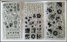 CLING CLEAR STAMPS Set of 3 Different designs unused
