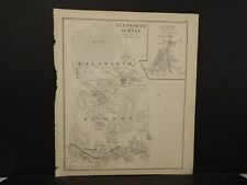 New Hampshire, Grafton County Map, Ellsworth, Rumney Reversible 1892 L4#11