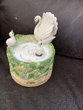 Vintage Dancing Swan Music Box