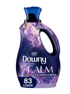 Downy Infusions Calm Lavender & Vanilla Bean Fabric Softener, 56 Oz, 83 Loads