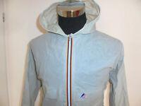 vintage K-WAY Regenjacke Nylon glanz oldschool KWay retro grau 90s Gr.5 M