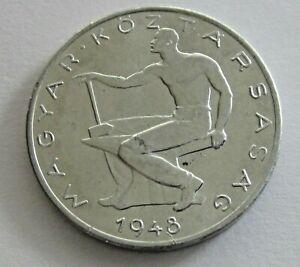 Hungary Aluminum 50 Filler 1948, KM 536