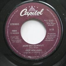 Rock 45 Amy Holland - How Do I Survive / Don'T Kid Yourself On Capitol