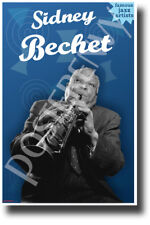 Sidney Bechet Famous Jazz Musician - New Famous Person Music Poster (fp494)