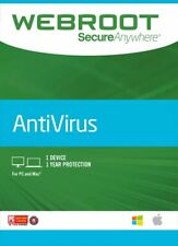Webroot SecureAnywhere AntiVirus 1 PC Global CD Key 1 Year Licence Region Free