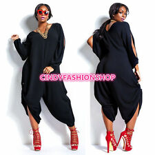Cindy Woman Chiffon Long TROUSER Romper Loose Jumpsuit Plus Size  Pants 5088