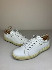 Ecco Hydromax White Leather Spikeless Golf Shoes! Size US Mens 12