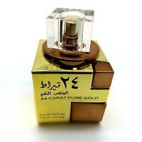 24 Carat Pure Gold 100ml EDP By Lattafa Oud Rose Saffron Vanilla Perfume Spray