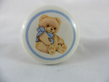 Tienshan Ceramic Cabinet Drawer Knob Pull Country Teddy Bear W/Screw