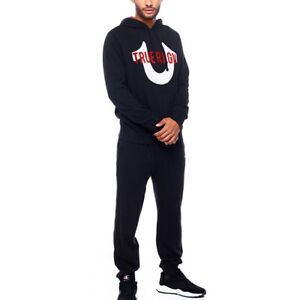 TRUE RELIGION Mens Sweatsuit Hoodie & Jogger Black Size S