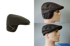 Men's Barbour Wax Waxed Tartan Cheviot Hats Cap Flat Size S