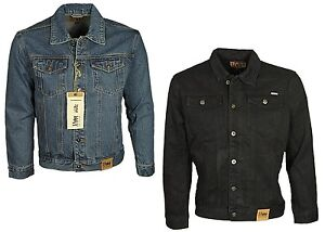 Men's King Size Denim Jacket D555 Big & Tall Western Style Button Up Jeans Coat
