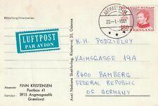 1981 Greenland card sent from Angmagssalik to Bamberg Germany