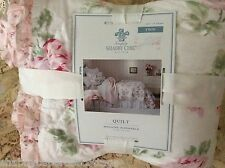 NEW RACHEL ASHWELL GARDEN ROSE TWIN QUILT NO SHAMS SIMPLY SHABBY CHIC LOVELY
