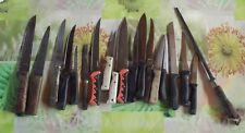 Lt de 19 couteaux et Fusil à affûter divers tailles et époque