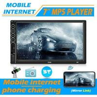 "2 DIN 7"" Touch Screen Car Stereo MP5 Player Bluetooth USB AUX Radio w/ Camera"