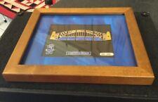 OLYMPIC GAMES 2000 SYDNEY Harbour Bridge Silver Enamel PUZZLE BADGE Set Framed