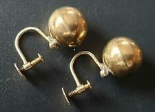 A Pair of Antique 9ct Gold Screw Back Earrings. 2.21 grams.