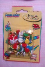 35 Pcs Colorato Bacheca Carta Fotografica A spinta Pin Map Puntine w Custodia