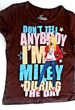 Disney's hannah montana girls brown shirt top x-small 4/5 nwot